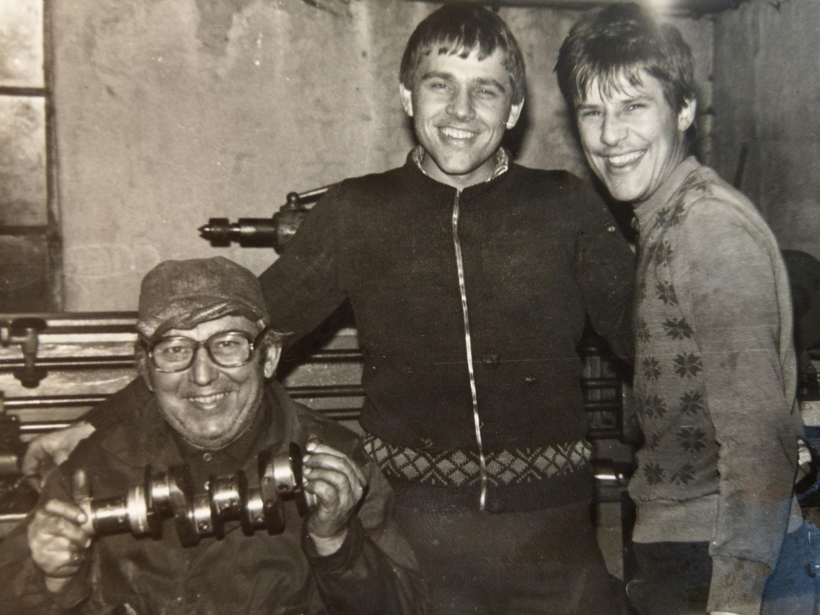 Jerzy Warchoł senior z synami: Jerzym i Bogdanem