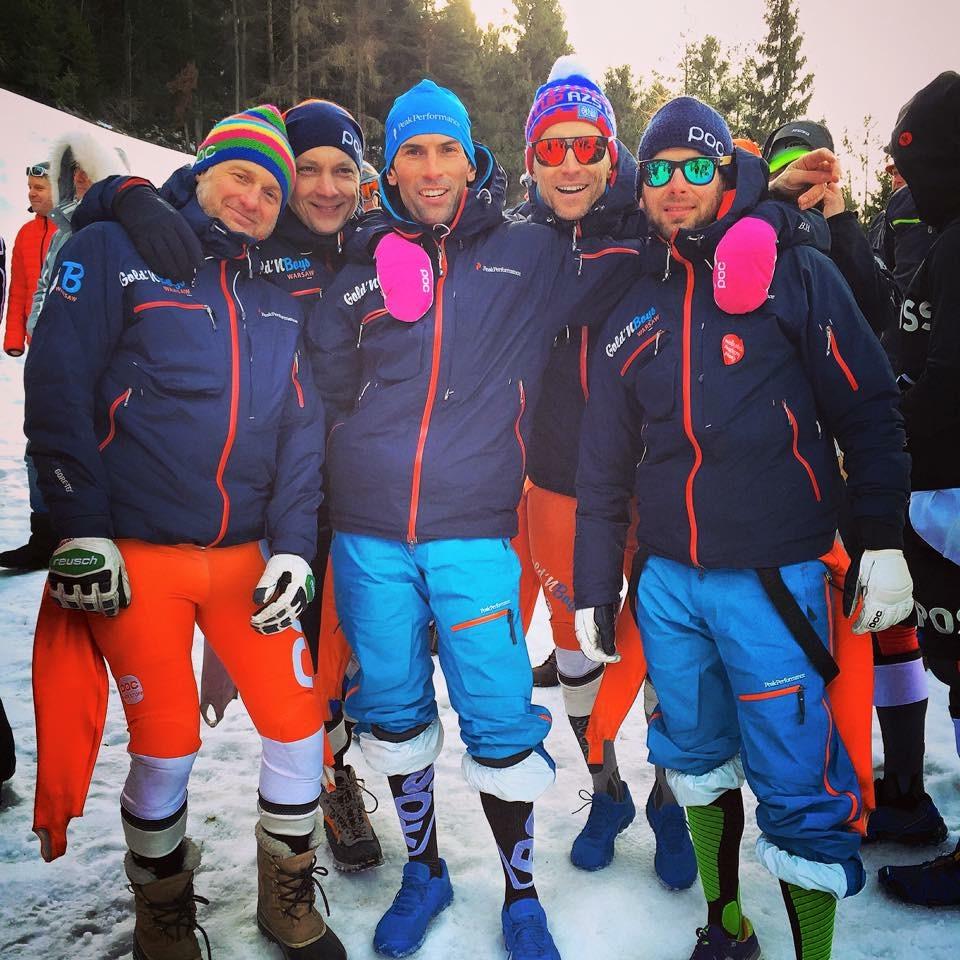 Paweł Zaborowski z grupą narciarską Golden Boys